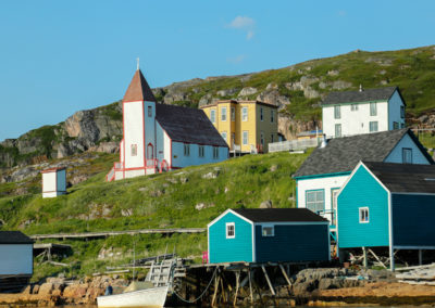 Beautiful Battle Harbour and the the oldest non-Moravaian church in Labrador