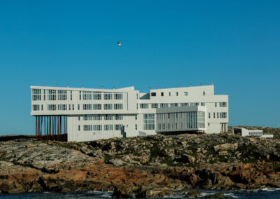 Fogo Island Inn from the water