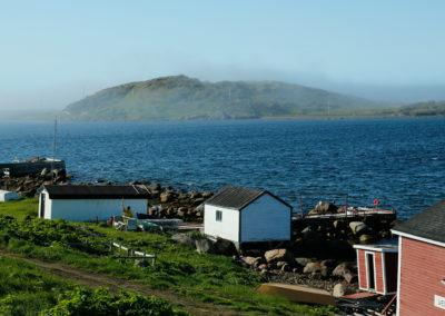 Red Bay community as fog rolls in