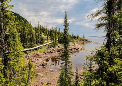 Rigolet's shoreline boardwalk--may be North America's longest